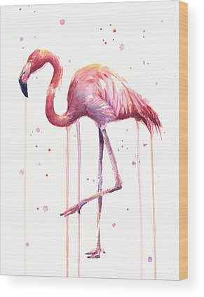 Flamingos Wood Prints