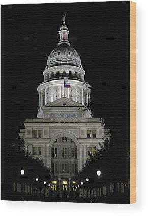 Capital Of Texas Wood Prints
