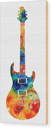 Bass Player Wood Prints