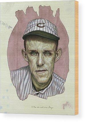 Baseball Players Wood Prints