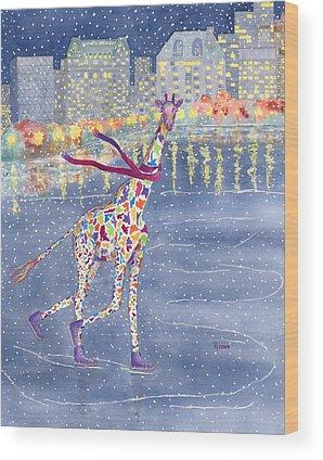 Giraffe Wood Prints