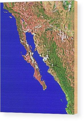 Baja California Peninsula Wood Prints