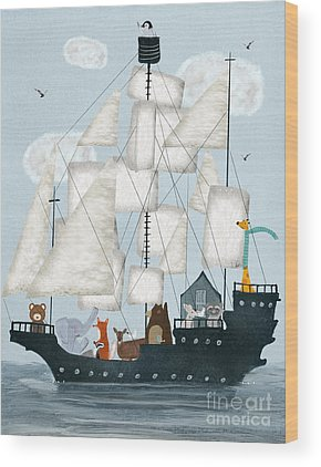 Tall Ships Wood Prints