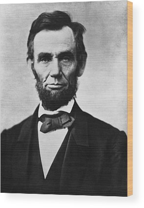 President Lincoln Wood Prints