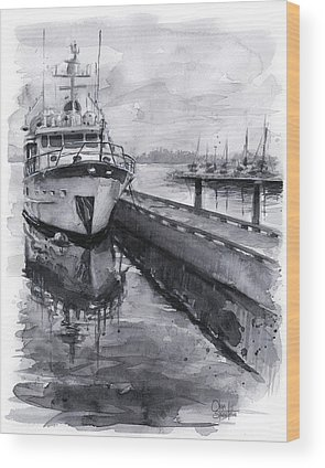 Waterfront Wood Prints