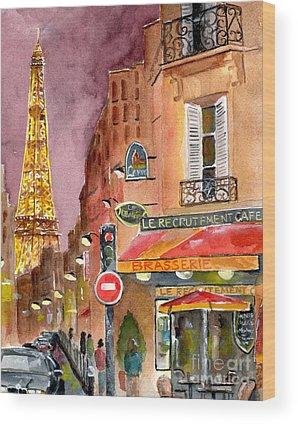 Eiffel Tower Wood Prints