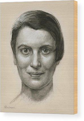 Ayn Rand Wood Prints