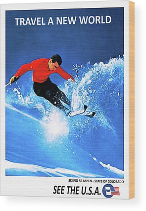 Colorado Ski Art Wood Prints
