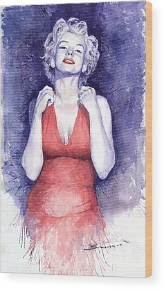 Marilyn Monroe Wood Prints