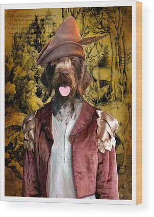 German Wirehaired Pointer Wood Prints