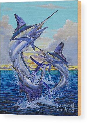 Marlin Azul Wood Prints