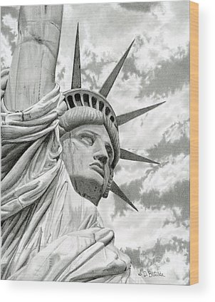 Statue Of Liberty National Monument Wood Prints