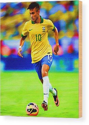 Neymar Wood Prints