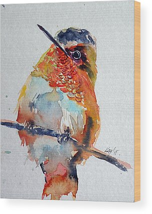 Annas Hummingbirds Wood Prints