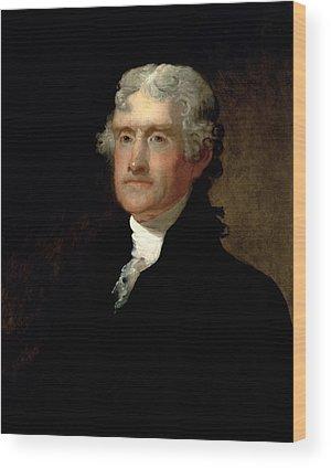 Thomas Jefferson Wood Prints
