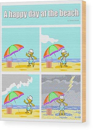 Comic Wood Prints