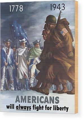 American Revolutionary War Wood Prints