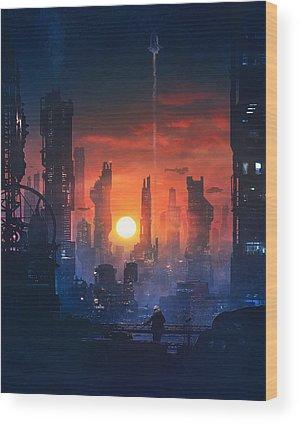 Scifi Wood Prints