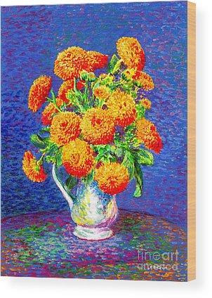 Chrysanthemums Wood Prints