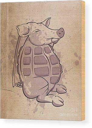 Cartoon Wood Prints