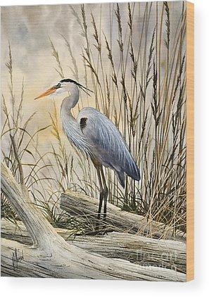 Heron Wood Prints