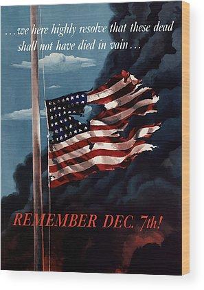 United States Propaganda Wood Prints
