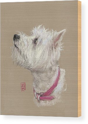 Westie Paintings Wood Prints