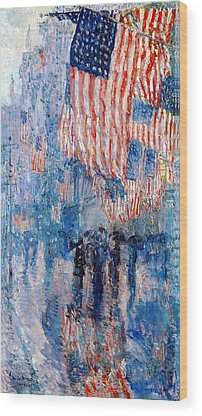 Patriotism Wood Prints