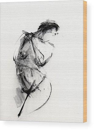 Female Paintings Wood Prints