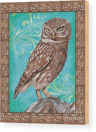 Barred Owl Wood Prints