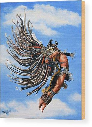 Aztec Paintings Wood Prints