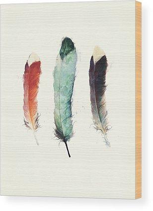 Feathers Wood Prints