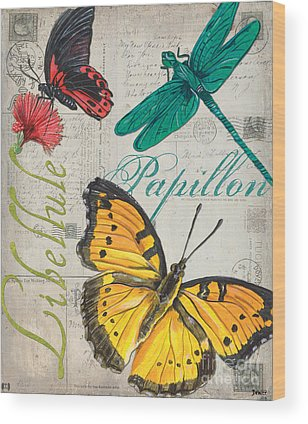 Blue Butterfly Wood Prints