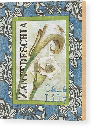 White Lily Flower Wood Prints
