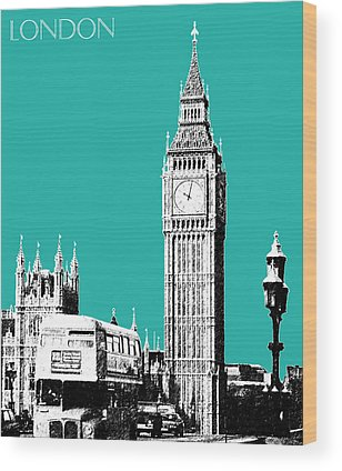 England Digital Art Wood Prints