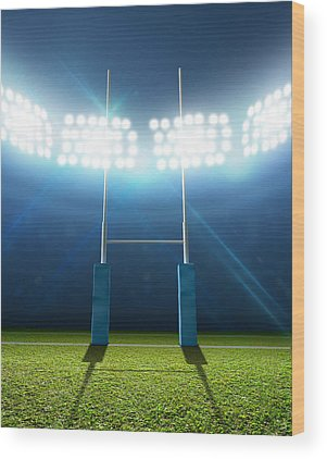 Rugby League Wood Prints