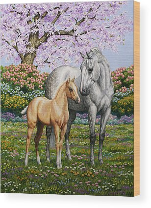 Palomino Horse Wood Prints