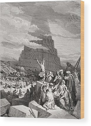Tower Of Babel Gustave Dore Wood Prints