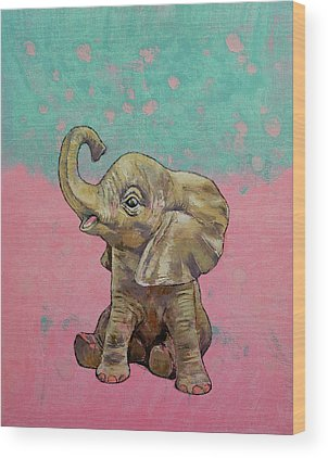 Baby Elephant Wood Prints