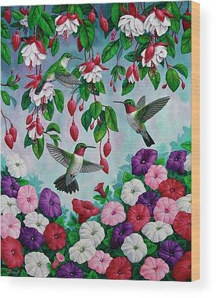 Fuschia Wood Prints