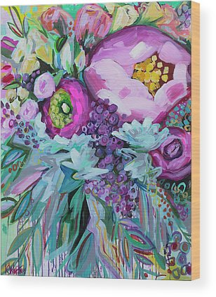 Bright Flowers Wood Prints