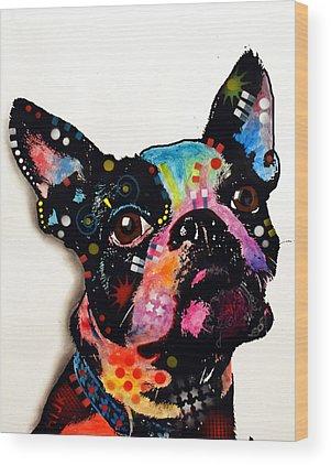 Boston Terrier Wood Prints