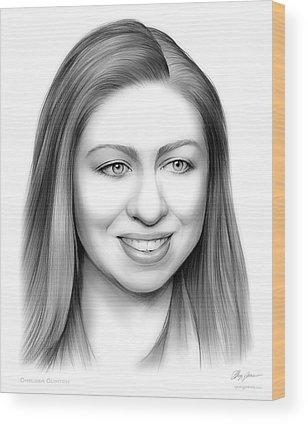 Hillary Clinton Wood Prints