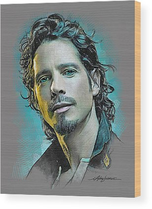 Chris Cornell Wood Prints