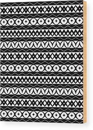 Tribal Digital Art Wood Prints