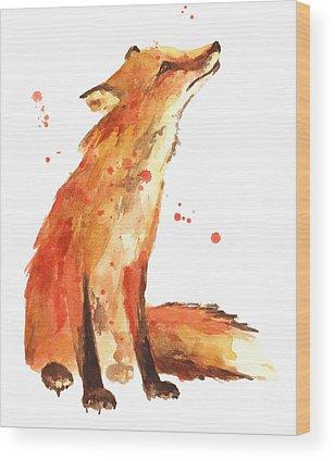 Orange Wood Prints