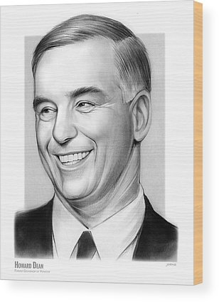 Howard Dean Wood Prints