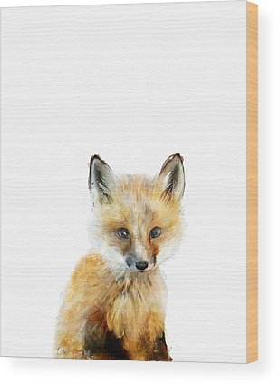 Foxes Wood Prints