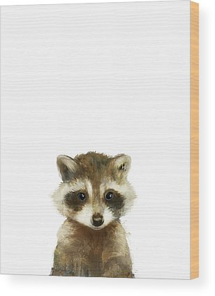 Raccoon Wood Prints
