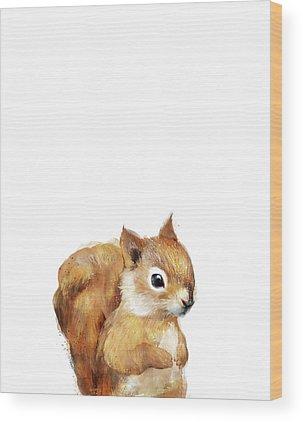 Squirrel Wood Prints